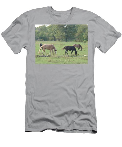 Men's T-Shirt (Slim Fit) featuring the photograph Mowing The Lawn by Bonfire Photography