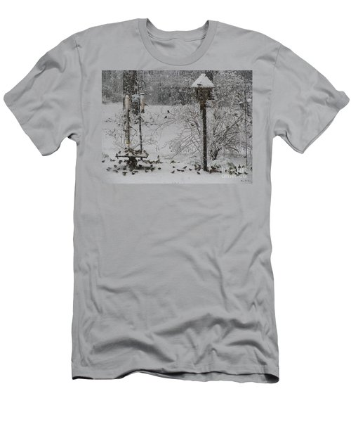 Men's T-Shirt (Slim Fit) featuring the photograph My Backyard by Donna Brown
