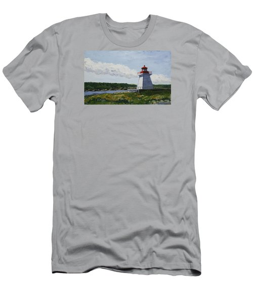 Neil's Harbor Light Men's T-Shirt (Athletic Fit)