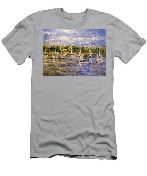 Newport Views Men's T-Shirt (Slim Fit) by Karen  Ferrand Carroll