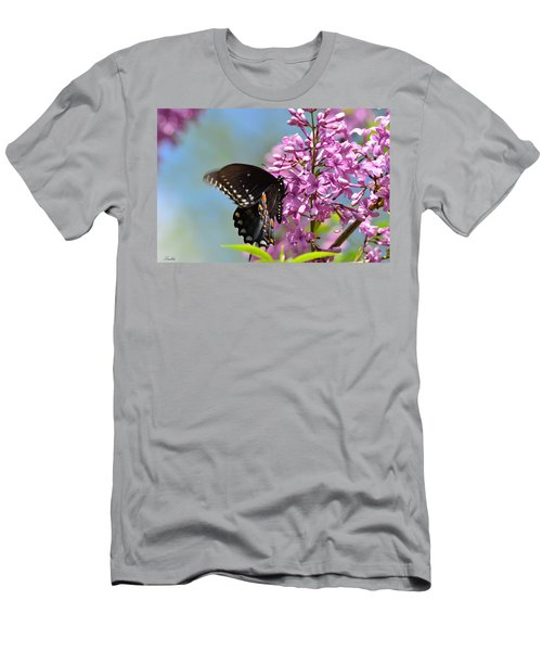 Nothing Says Spring Like Butterflies And Lilacs Men's T-Shirt (Slim Fit) by Lori Tambakis