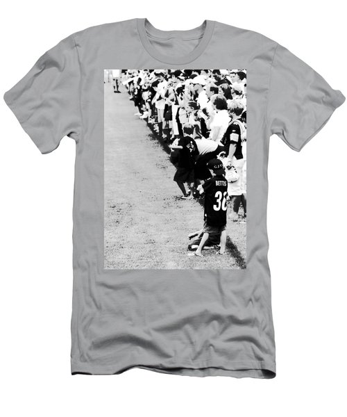 Number 1 Bettis Fan - Black And White Men's T-Shirt (Athletic Fit)