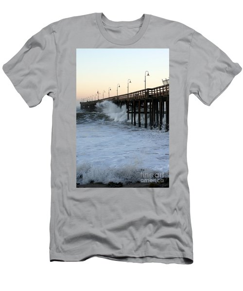 Ocean Wave Storm Pier Men's T-Shirt (Athletic Fit)