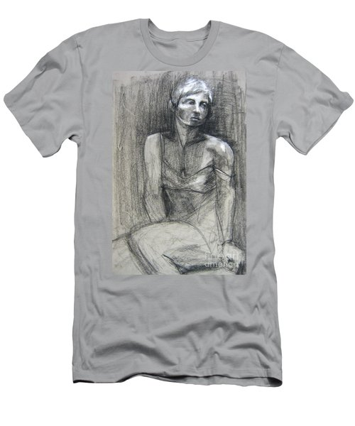 Men's T-Shirt (Athletic Fit) featuring the drawing Off The Shoulder by Gabrielle Wilson-Sealy