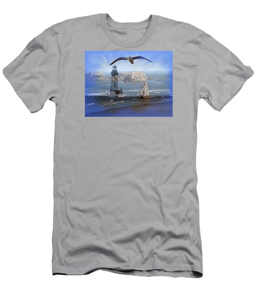 Oregon Coast Composite Men's T-Shirt (Slim Fit) by Nick Kloepping