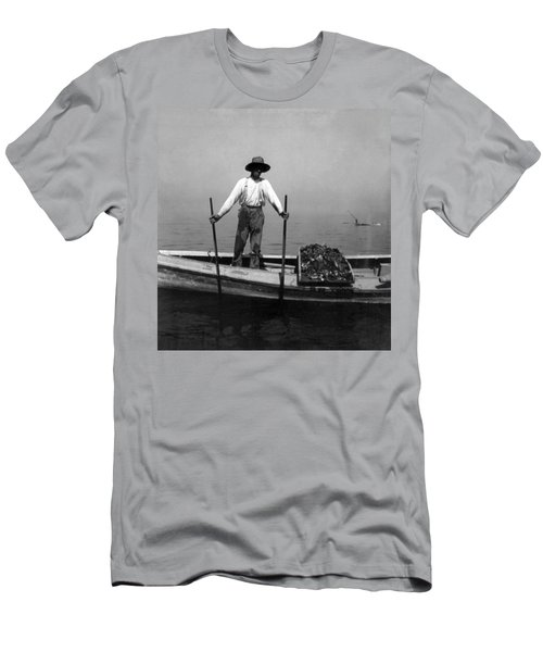 Oyster Fishing On The Chesapeake Bay - Maryland - C 1905 Men's T-Shirt (Slim Fit) by International  Images