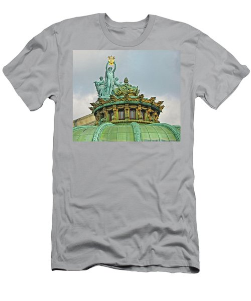 Men's T-Shirt (Slim Fit) featuring the photograph Paris Opera House Roof by Dave Mills