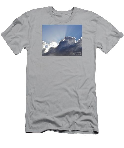 Partly Cloudy Men's T-Shirt (Slim Fit) by Rebecca Margraf