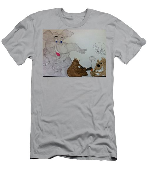 Partying Animals Cartoon Men's T-Shirt (Athletic Fit)