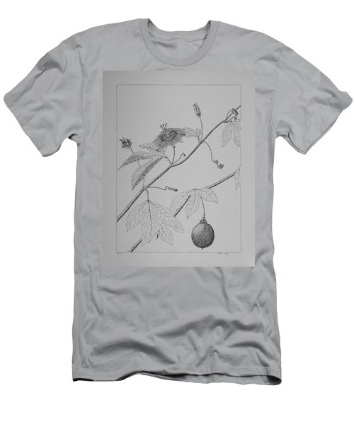 Passionflower Vine Men's T-Shirt (Athletic Fit)