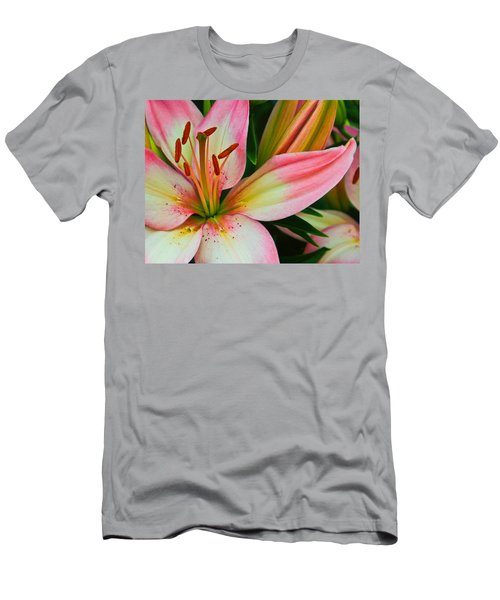 Men's T-Shirt (Slim Fit) featuring the photograph Pastel Pretty by Lynne Jenkins