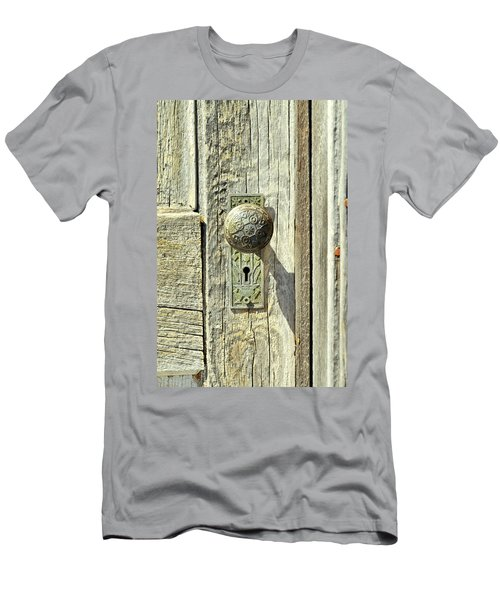 Men's T-Shirt (Slim Fit) featuring the photograph Patina Knob by Fran Riley
