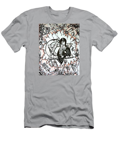 Men's T-Shirt (Slim Fit) featuring the drawing Peace Process by Rae Chichilnitsky