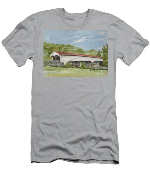 Philippi Covered Bridge  Men's T-Shirt (Athletic Fit)