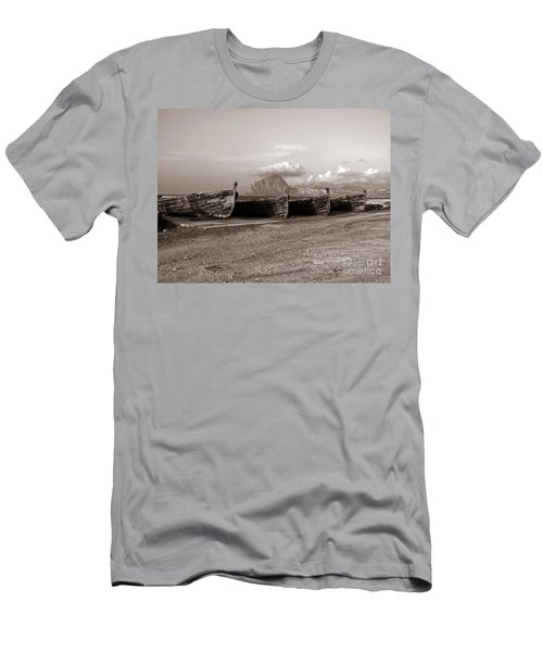 Men's T-Shirt (Athletic Fit) featuring the photograph Old Port Of Trapani by Silva Wischeropp
