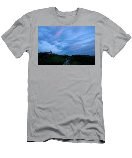 Prezganje Church At Sunset Men's T-Shirt (Athletic Fit)