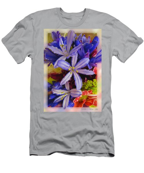 Men's T-Shirt (Slim Fit) featuring the photograph Purple Stars by Debbie Portwood
