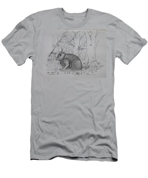 Rabbit In Woodland Men's T-Shirt (Athletic Fit)