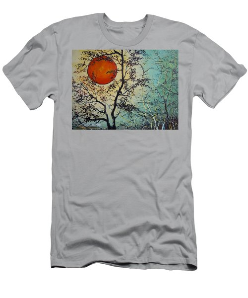 Red Sun A Red Moon Men's T-Shirt (Slim Fit) by Dan Whittemore