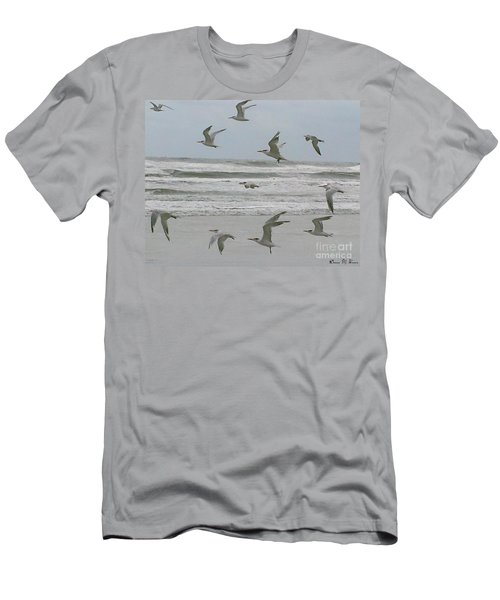 Men's T-Shirt (Slim Fit) featuring the photograph Riding The Wind by Donna Brown