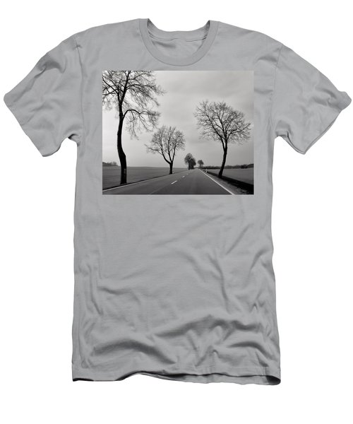 Road Through Windy Fields Men's T-Shirt (Athletic Fit)