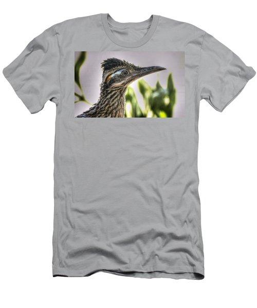 Roadrunner Portrait  Men's T-Shirt (Slim Fit) by Saija  Lehtonen