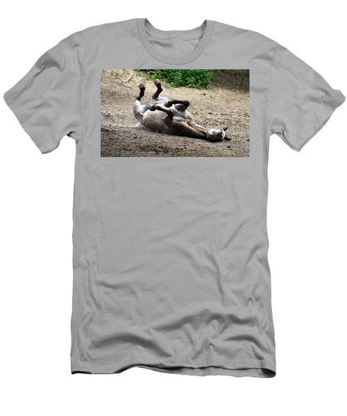 Men's T-Shirt (Slim Fit) featuring the photograph Rollin In The Dirt by Elizabeth Winter