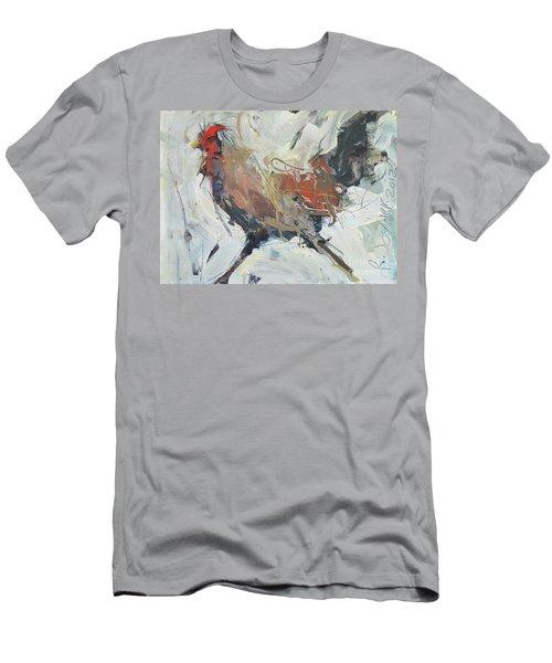Rooster Art  Men's T-Shirt (Athletic Fit)