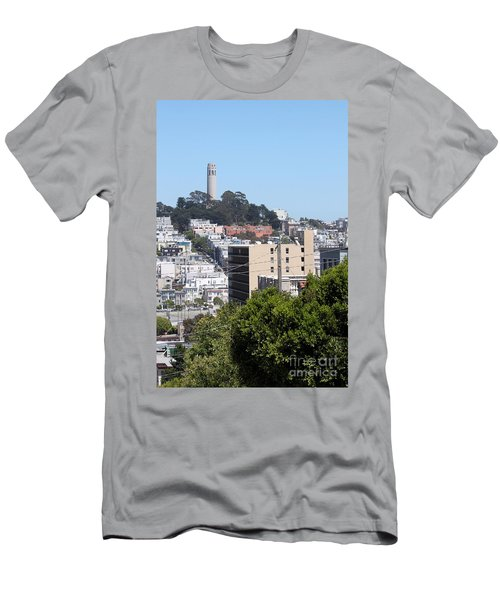 San Francisco Coit Tower Men's T-Shirt (Athletic Fit)