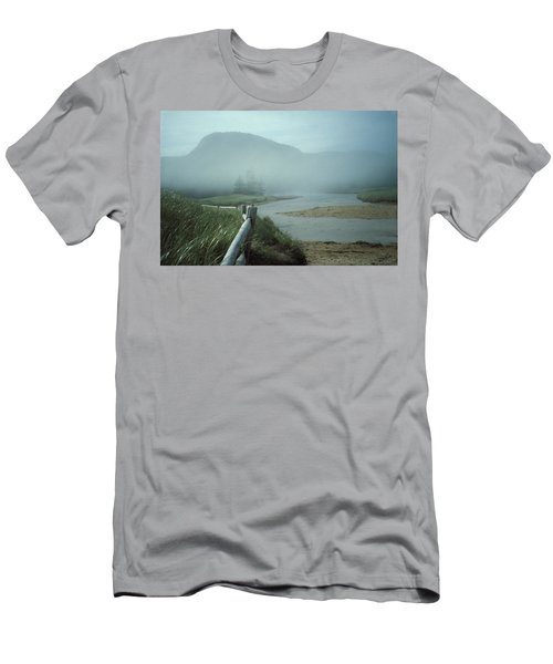 Sand Beach Fog Men's T-Shirt (Athletic Fit)