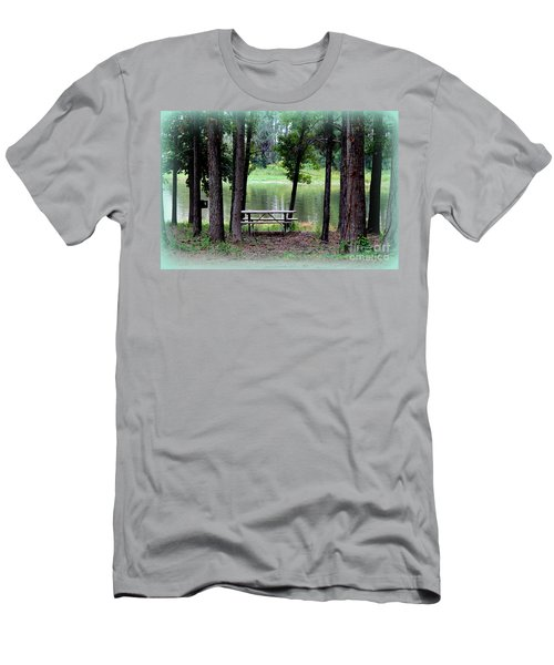Men's T-Shirt (Slim Fit) featuring the photograph Serene Escape by Kathy  White