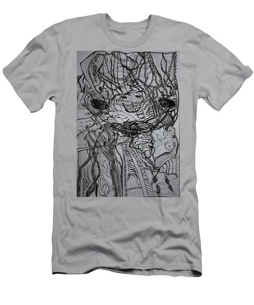 Men's T-Shirt (Slim Fit) featuring the drawing Shango by Gloria Ssali