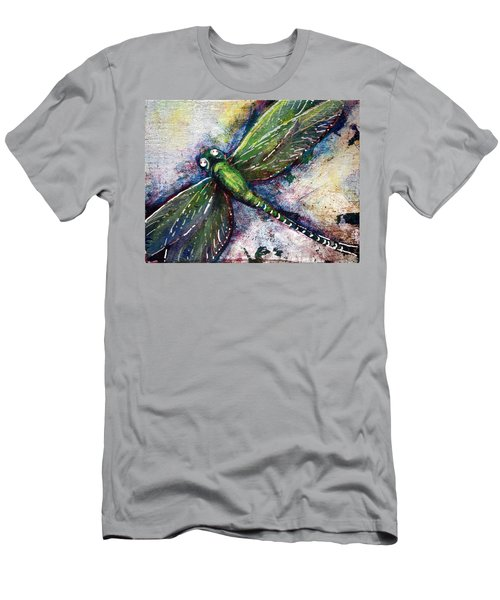 Silver Dragonfly Men's T-Shirt (Athletic Fit)