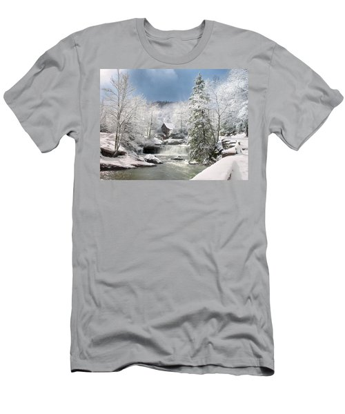 Snow At Babcock State Park Men's T-Shirt (Athletic Fit)