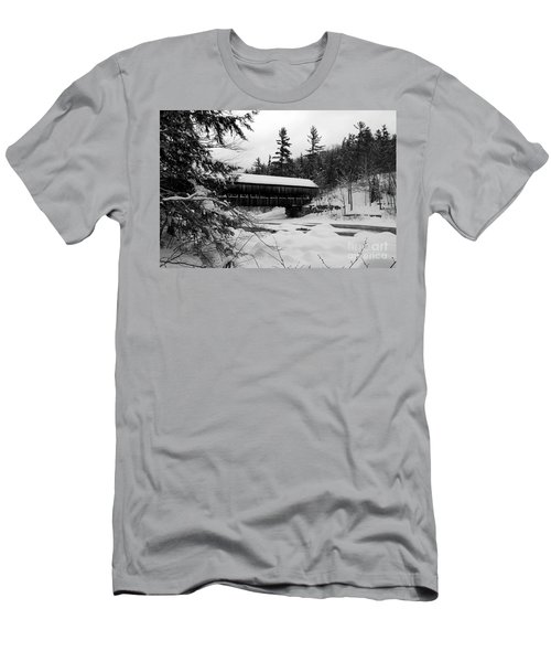 Snow Covered Bridge Men's T-Shirt (Athletic Fit)