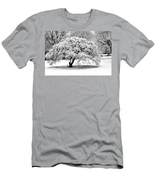 Men's T-Shirt (Slim Fit) featuring the photograph Snow In Connecticut by John Scates