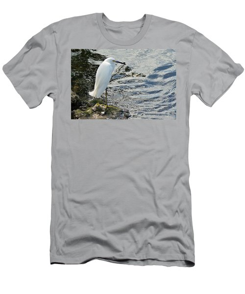 Snowy Egret 2 Men's T-Shirt (Slim Fit) by Joe Faherty