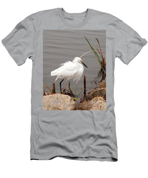 Men's T-Shirt (Slim Fit) featuring the photograph Snowy Egret by Kay Lovingood