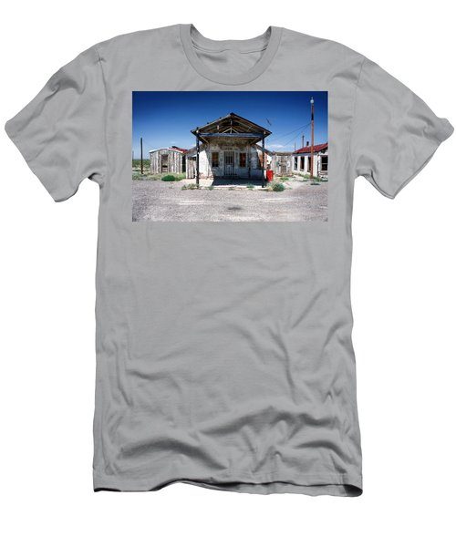 Men's T-Shirt (Slim Fit) featuring the photograph Somewhere On The Old Pecos Highway Number 4 by Lon Casler Bixby