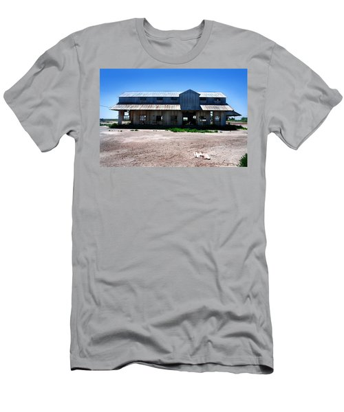 Men's T-Shirt (Slim Fit) featuring the photograph Somewhere On The Old Pecos Highway Number 6 by Lon Casler Bixby