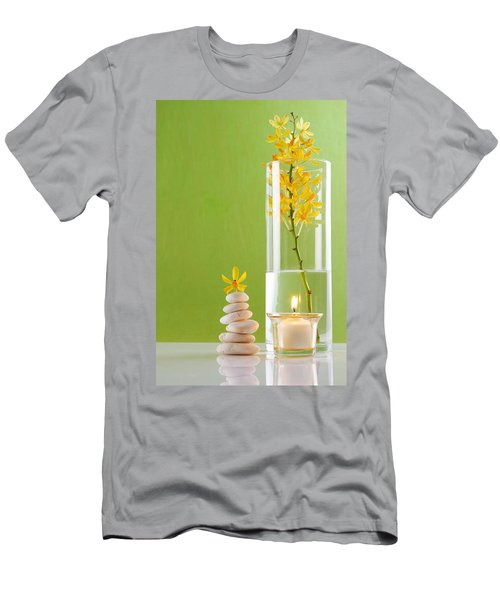 Spa Concepts With Green Background Men's T-Shirt (Athletic Fit)