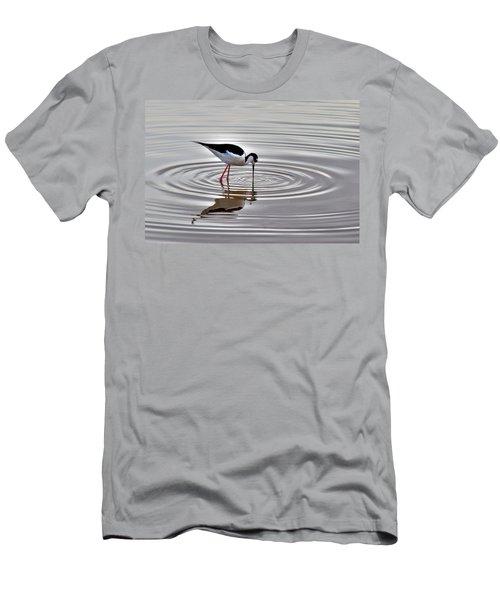 Men's T-Shirt (Slim Fit) featuring the photograph Black-necked Stilt by Tam Ryan