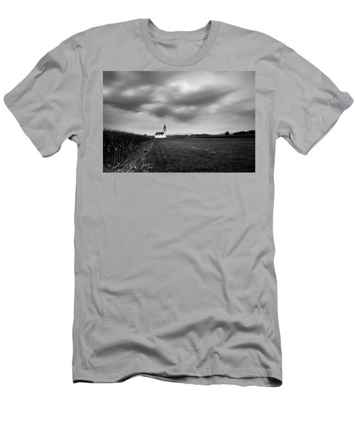 Storm Clouds Gather Over Church Men's T-Shirt (Athletic Fit)