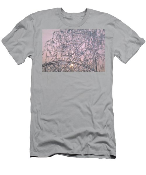 Men's T-Shirt (Slim Fit) featuring the photograph Sunrise Through Ice Covered Shrub by Tom Wurl
