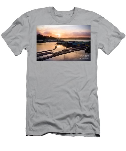 Sunset At Fisherman Villages  Men's T-Shirt (Athletic Fit)