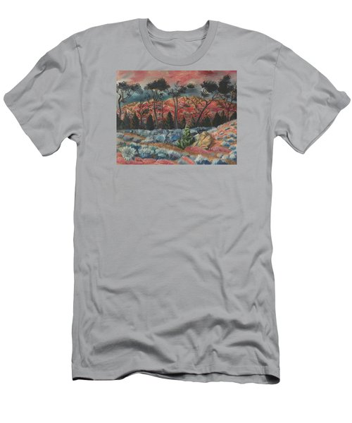 Sunset In The Cheatgrass Men's T-Shirt (Slim Fit) by Dawn Senior-Trask