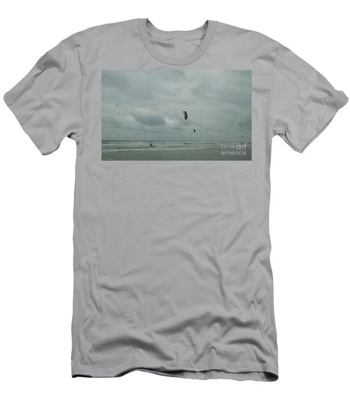 Men's T-Shirt (Slim Fit) featuring the photograph Surfing The Wind by Donna Brown