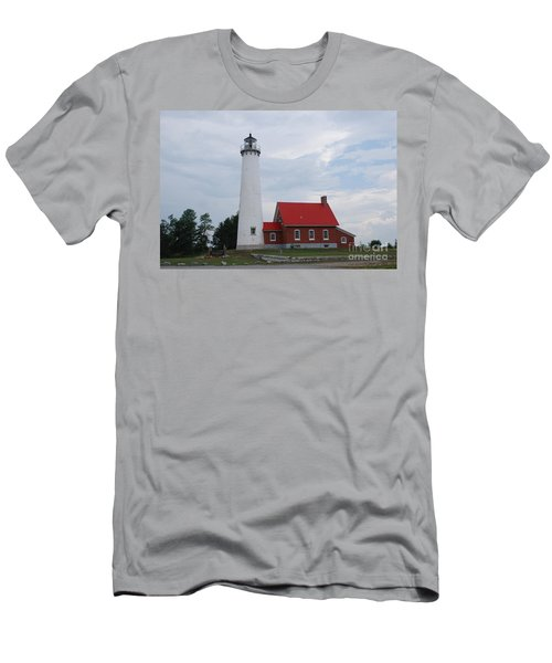 Tawas Point Lighthouse Men's T-Shirt (Athletic Fit)