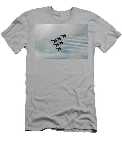 The Blue Angels Men's T-Shirt (Slim Fit) by Randy J Heath