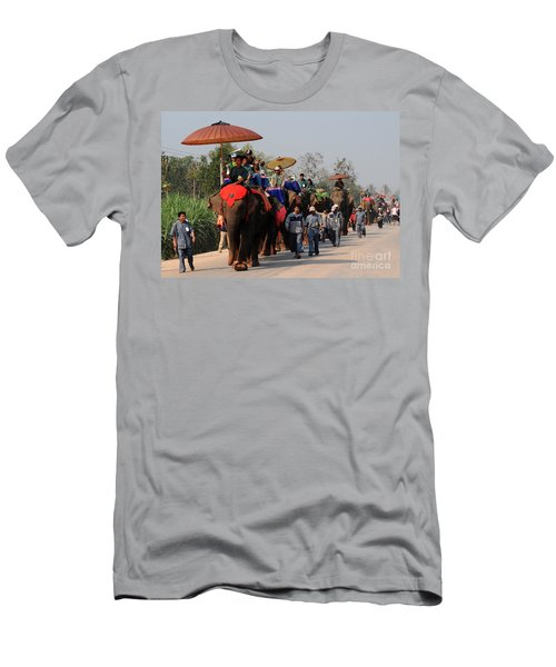 The Elephant Parade Men's T-Shirt (Slim Fit) by Vivian Christopher